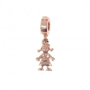 Pendant Silver 925, pink gold plated - Genesis Jewellery