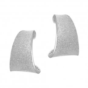 Earrings in silver 925 rhodium plated - Kyma