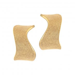 Earrings Silver 925 yellow gold plated - Kyma