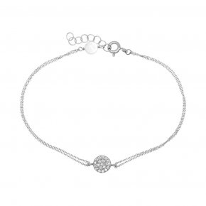 Bracelet in white gold 14 carats with white zirconia - ETERNAL