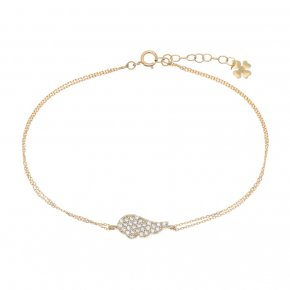 Bracelet in yellow gold 14 carats with white zirconia - ETERNAL