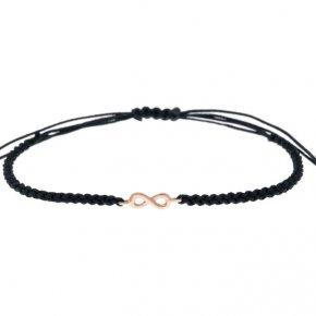 Cord Bracelet in pink gold 14 carats - ETERNAL