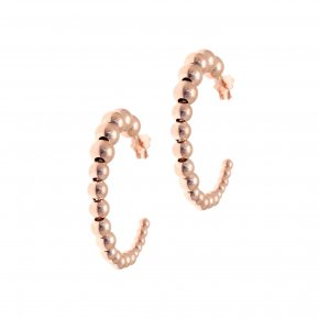 Earrings in silver 925 pink gold plated (diameter 2.9 cm) - Echo