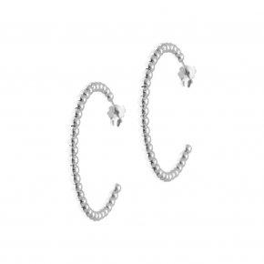 Earrings in silver 925 rhodium plated (diameter 2.9 cm) - Echo