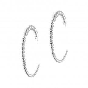 Earrings in silver 925 rhodium plated (diameter 4.2 cm) - Echo