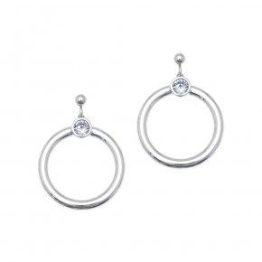 Earrings in silver 925 rhodium plated - Echo