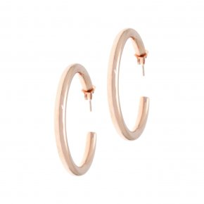 Earrings in silver 925 pink gold plated (3.2 cm diameter, 0,4 cm thick) - Echo