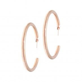 Earrings in silver 925 pink gold plated - Echo