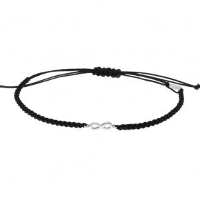 Cord Bracelet in white gold 14 carats - ETERNAL