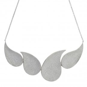 Necklace in silver 925 rhodium plated - Kyma