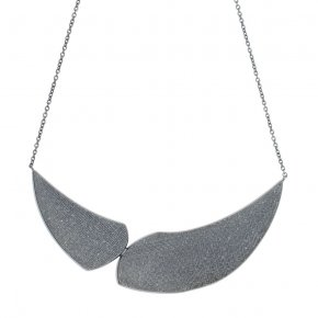 Necklace in silver 925 black rhodium plated - Kyma