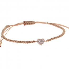Bracelet in silver 925 pink gold plated with white zirconia - Sirens