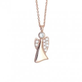 Necklace in silver 925, pink gold plated - Aggelos