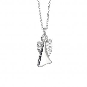 Necklace in silver 925, rhodium plated - Aggelos