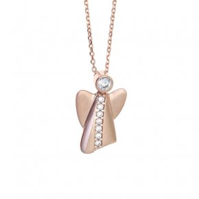 Necklace in silver 925 pink gold plated - Aggelos