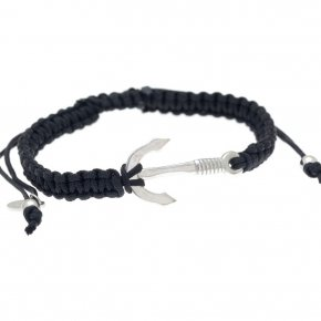 Cord Bracelet in silver 925 rhodium plated - My Man