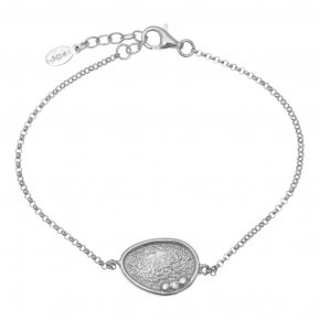 Bracelet in silver 925 rhodium plated with white zirconia - Kosmos
