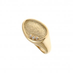 Cord Ring Silver 925 gold plated - Kosmos