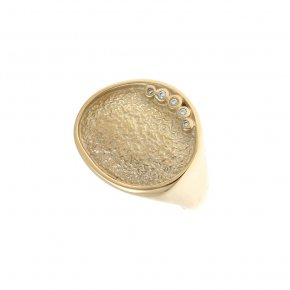 Cord Ring Silver 925  gold plated - Funky Metal