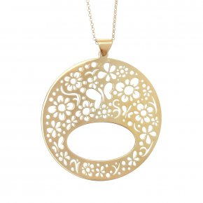 Necklace in silver 925, gold plated - Fos