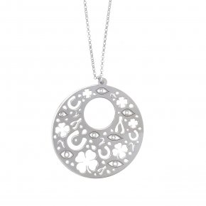 Necklace in silver 925, rhodium plated - Fos