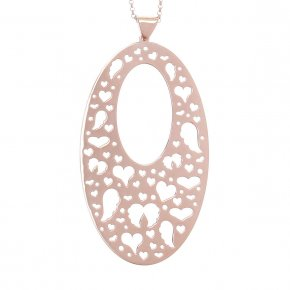 Necklace in silver 925, pink gold plated - Fos