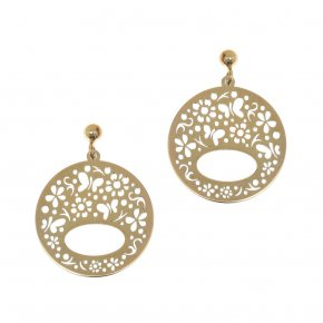 Earrings in silver 925 gold plated - Fos