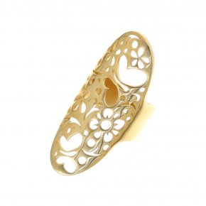 Ring Silver 925, gold plated - Fos