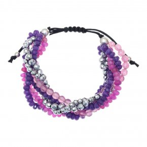 Bracelet in silver 925, pink gold plated with agate - Ariadne