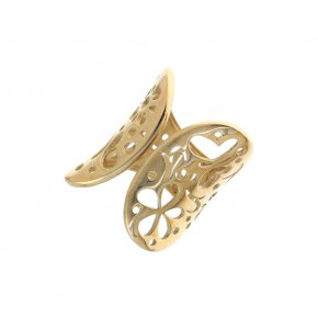 Ring Silver 925 gold plated - Fos