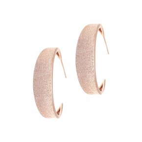 Earrings Silver 925, pink gold plated - Kyma