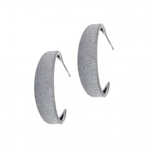 Earrings Silver 925 black rhodium plated - Kyma