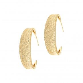 Earrings in silver 925, gold plated - Kyma