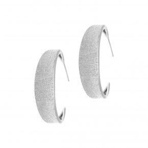 Earrings in silver 925, rhodium plated - Kyma