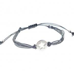 Cord Bracelet in silver 925 pink gold plated - PROTASIS