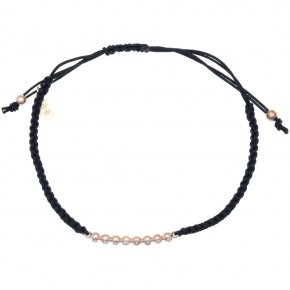 Cord Bracelet in silver 925 pink gold plated with white zirconia - offers