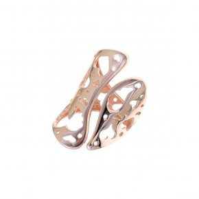 Ring Silver 925, pink gold plated - Fos