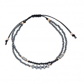 Bracelet in silver 925 pink gold plated with white zirconia - aperitto