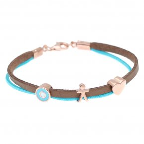 Cord Bracelet in silver 925 pink gold plated - Filia