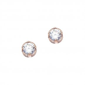 Earrings in silver 925, pink gold plated - Chromata