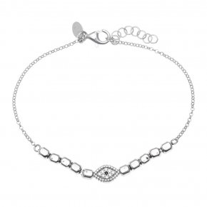 Bracelet in silver 925 rhodium plated with white zirconia - Artemis