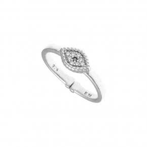 Ring Silver 925 rhodium plated witth white zirconia - Artemis