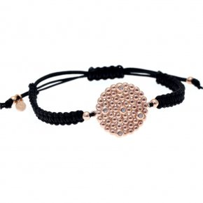 Bracelet in silver 925, pink gold plated with white zirconia - Daphne
