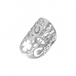 Ring Silver 925, rhodium plated - Fos