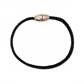 Cord Bracelet pink gold plated with magnetic clasp. - My Gregio