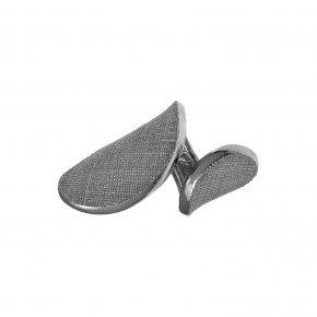Ring Silver 925 black rhodium plated - Kyma