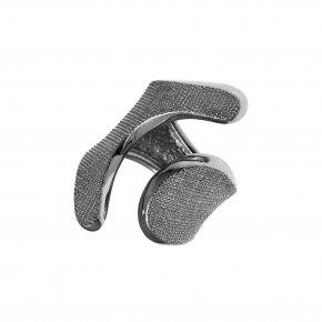 Ring Silver 925, black rhodium plated - Kyma