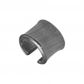 Ring Silver 925 black rhodium plated - Kyma