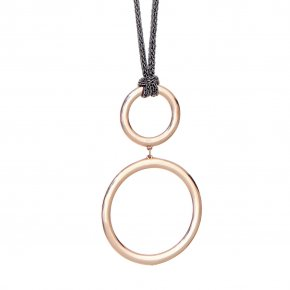 Necklace out of Metal pink gold plated - Armonia