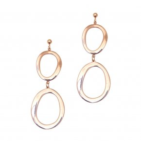 Earrings out of Metal pink gold plated - Armonia